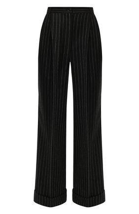 Женские шерстяные брюки DOLCE & GABBANA серого цвета, арт. FTBQ5T/FR2XI | Фото 1