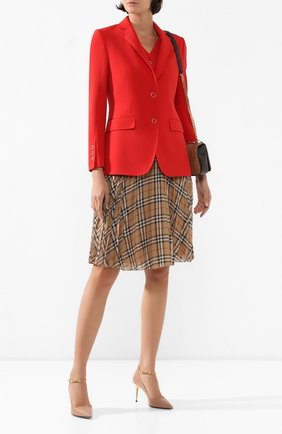 Женский шерстяной жакет BURBERRY красного цвета, арт. 8024776 | Фото 2
