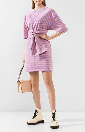 Женское хлопковое платье MARC JACOBS (THE) сиреневого цвета, арт. C5000002 | Фото 2