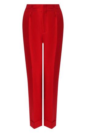 Женские шерстяные брюки ROLAND MOURET красного цвета, арт. PS20/S0103/F4044   Фото 1