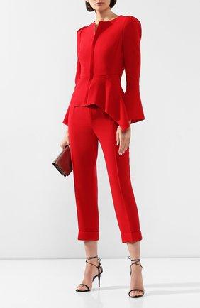 Женские шерстяные брюки ROLAND MOURET красного цвета, арт. PS20/S0103/F4044   Фото 2