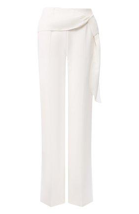 Женские шелковые брюки ROLAND MOURET белого цвета, арт. PS20/S0855/F4044 | Фото 1