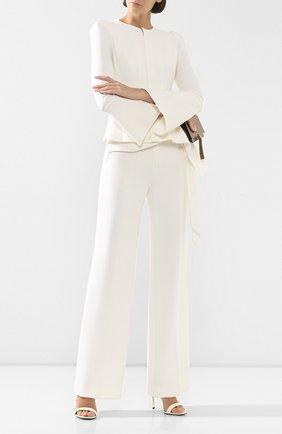 Женские шелковые брюки ROLAND MOURET белого цвета, арт. PS20/S0855/F4044 | Фото 2