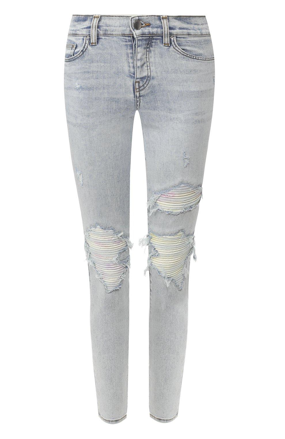 Женские джинсы AMIRI голубого цвета, арт. Y0W01411SD   Фото 1