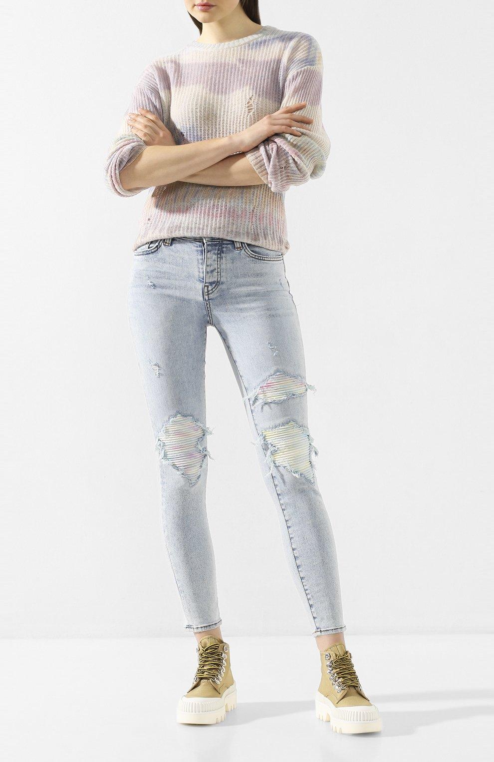 Женские джинсы AMIRI голубого цвета, арт. Y0W01411SD   Фото 2
