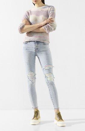 Женские джинсы AMIRI голубого цвета, арт. Y0W01411SD | Фото 2