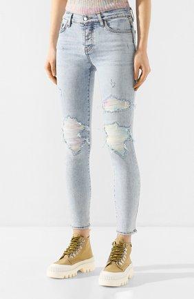 Женские джинсы AMIRI голубого цвета, арт. Y0W01411SD   Фото 3
