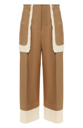 Женские хлопковые брюки REJINA PYO бежевого цвета, арт. E116/C0TT0N+ITALIAN CANVAS   Фото 1