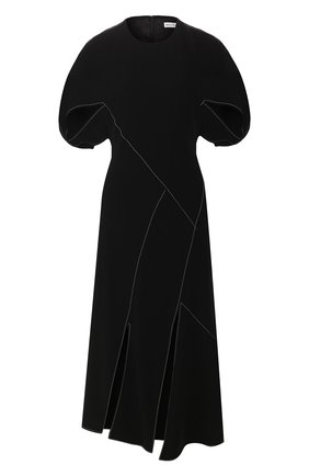 Женское платье-миди REJINA PYO черного цвета, арт. F272/CREPE   Фото 1