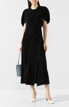 Женское платье-миди REJINA PYO черного цвета, арт. F272/CREPE   Фото 2