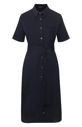 Женское хлопковое платье PIETRO BRUNELLI темно-синего цвета, арт. AG0421/LG/C0P319   Фото 1