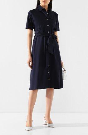 Женское хлопковое платье PIETRO BRUNELLI темно-синего цвета, арт. AG0421/LG/C0P319   Фото 2