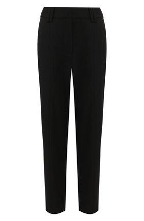 Женские шерстяные брюки BALMAIN черного цвета, арт. TF15172/167L | Фото 1