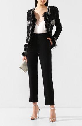 Женские шерстяные брюки BALMAIN черного цвета, арт. TF15172/167L | Фото 2