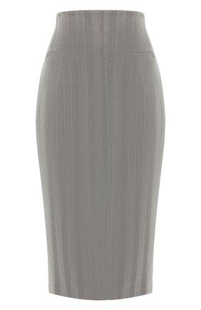 Женская шерстяная юбка RACIL серого цвета, арт. RS10-SK1-W-MELISSA   Фото 1