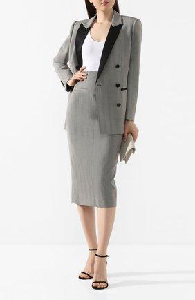 Женская шерстяная юбка RACIL серого цвета, арт. RS10-SK1-W-MELISSA   Фото 2