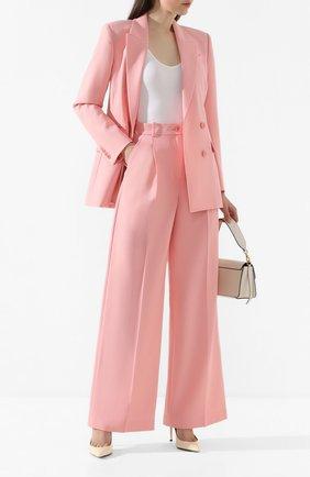 Женские шерстяные брюки RACIL розового цвета, арт. RS10-P8-W-PETER   Фото 2