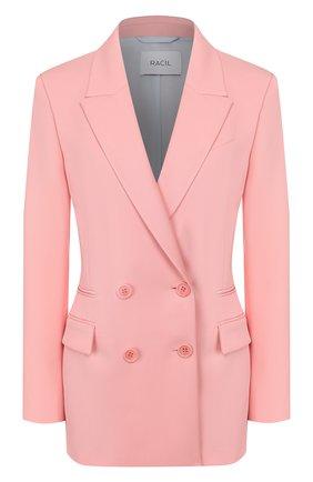 Женский шерстяной жакет RACIL розового цвета, арт. RS10-J3-W-ARCHIE   Фото 1