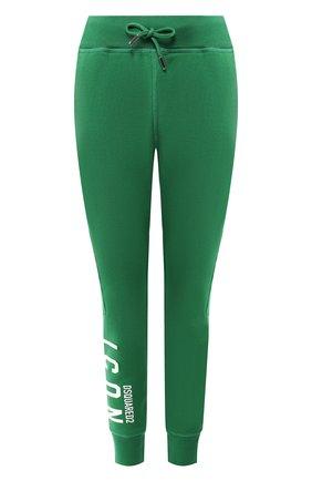 Женские хлопковые джоггеры DSQUARED2 зеленого цвета, арт. S80KA0001/S25042 | Фото 1