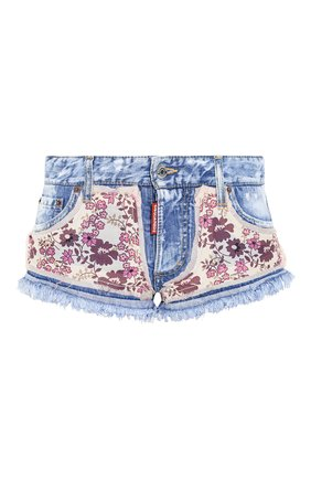 Женские джинсовые шорты DSQUARED2 голубого цвета, арт. S75MU0318/STN941 | Фото 1