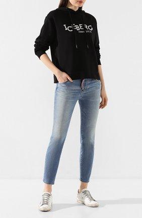 Женские джинсы DSQUARED2 синего цвета, арт. S75LB0324/S30662 | Фото 2