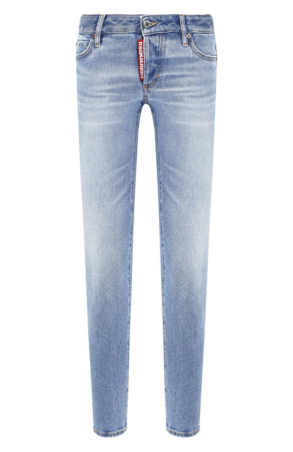 Женские джинсы DSQUARED2 голубого цвета, арт. S75LB0289/S30662 | Фото 1