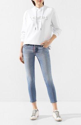Женские джинсы DSQUARED2 голубого цвета, арт. S75LB0289/S30662 | Фото 2