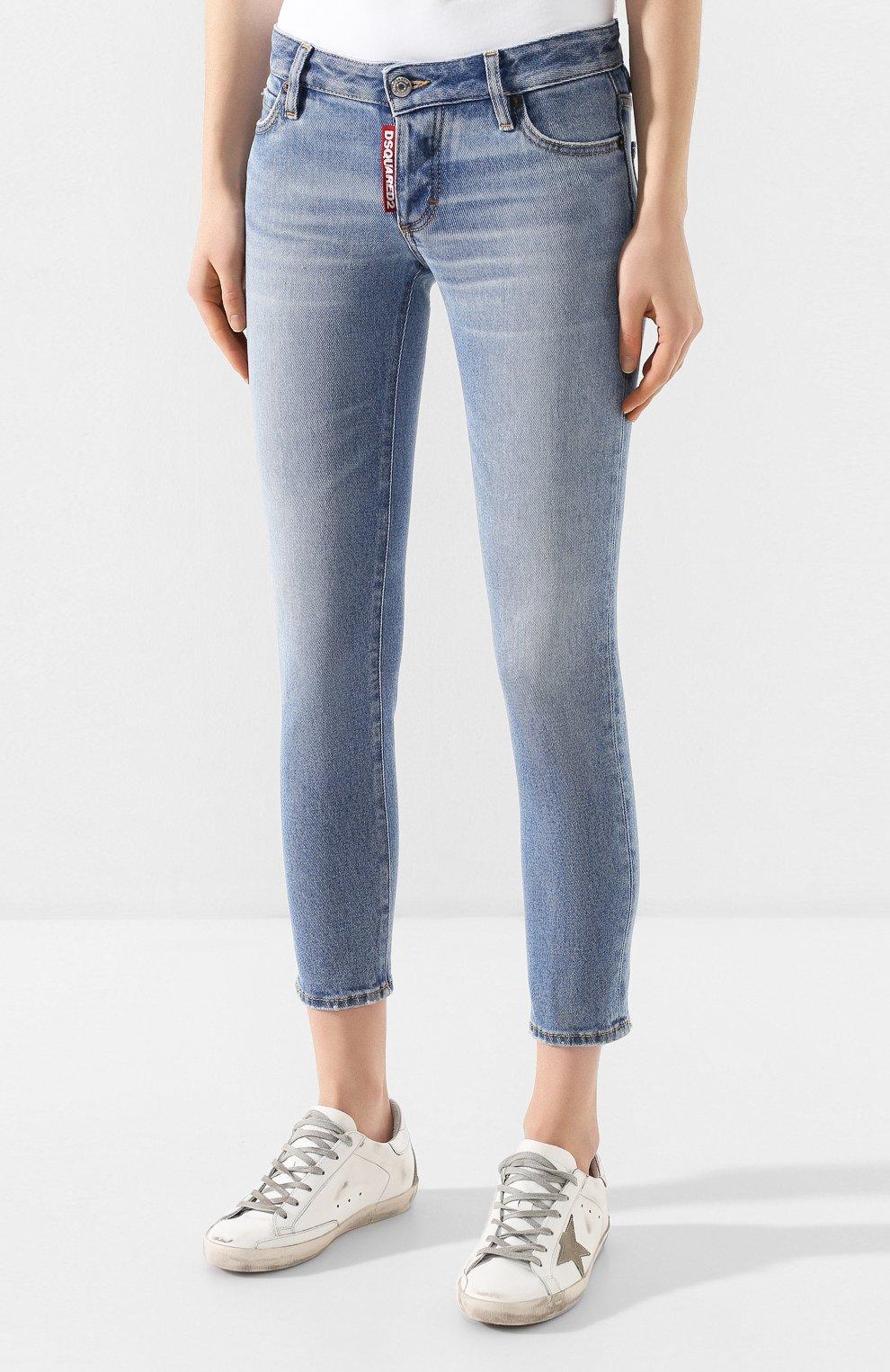 Женские джинсы DSQUARED2 голубого цвета, арт. S75LB0289/S30662 | Фото 3