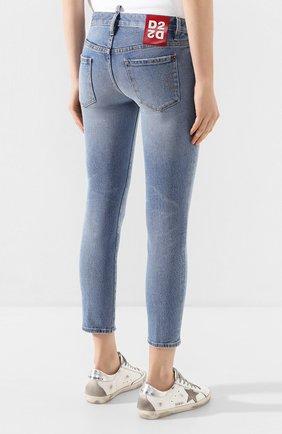 Женские джинсы DSQUARED2 голубого цвета, арт. S75LB0289/S30662 | Фото 4