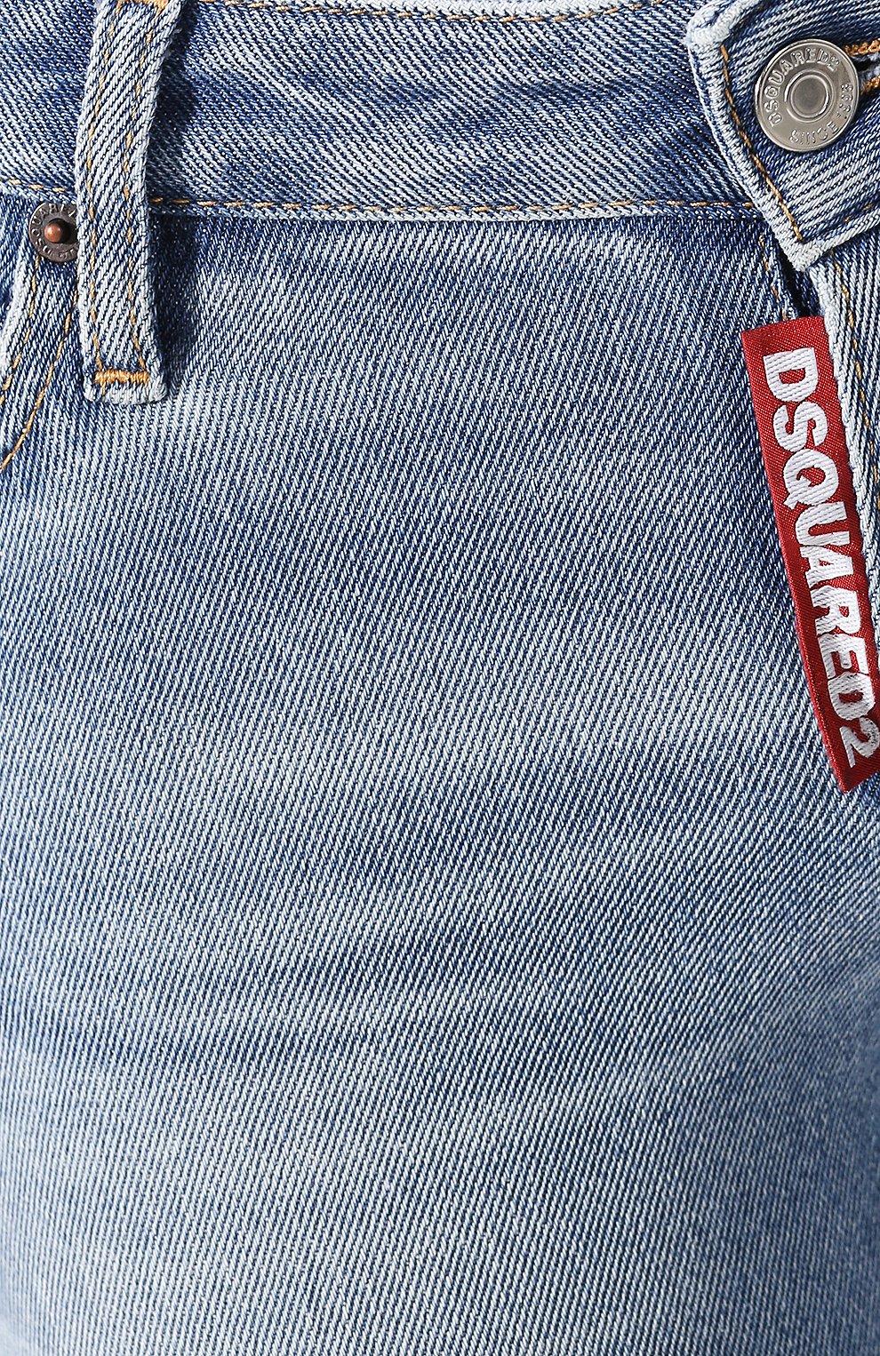 Женские джинсы DSQUARED2 голубого цвета, арт. S75LB0289/S30662 | Фото 5