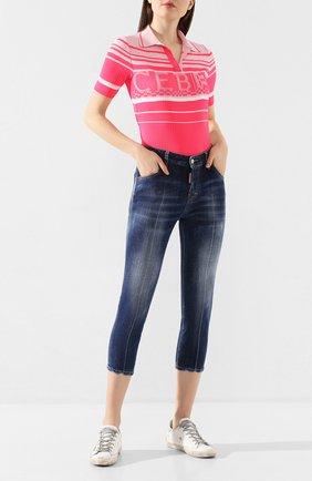 Женские джинсы DSQUARED2 синего цвета, арт. S72LB0296/S30342 | Фото 2