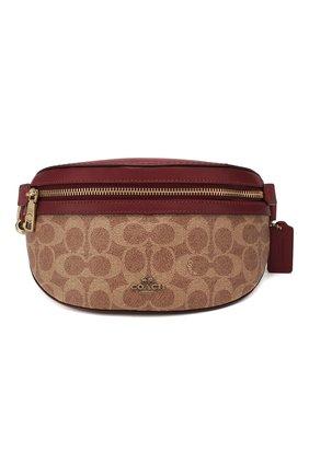 Женская поясная сумка fanny pack COACH красного цвета, арт. 39937 | Фото 1