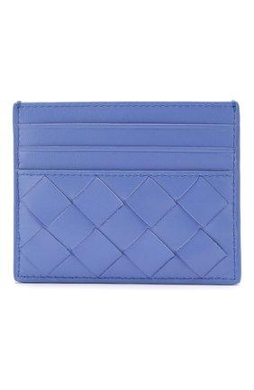 Женский кожаный футляр для кредитных карт BOTTEGA VENETA светло-голубого цвета, арт. 608078/VCPP3 | Фото 1