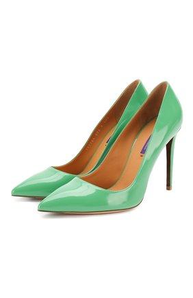 Женские кожаные туфли celia RALPH LAUREN зеленого цвета, арт. 800791764 | Фото 1