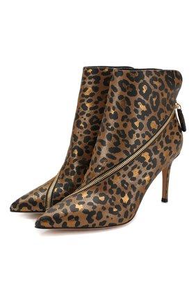 Женские кожаные ботильоны GIANVITO ROSSI леопардового цвета, арт. G73524.85RIC.CMDG0LP | Фото 1