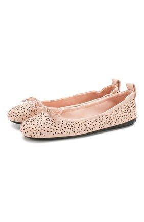 Женские кожаные балетки TOD'S розового цвета, арт. XXW12C0CK10NGD | Фото 1