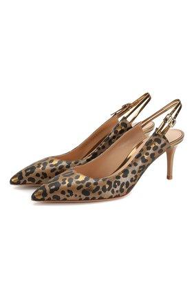 Женская кожаные туфли GIANVITO ROSSI леопардового цвета, арт. G95153.70RIC.CDMGLPM | Фото 1