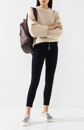 Женские кожаные кеды SANTONI серебряного цвета, арт. WBCE53853BARCFASD60 | Фото 2