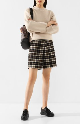 Женские кожаные кеды SANTONI черного цвета, арт. WBWI60627NE0XSSLN01 | Фото 2