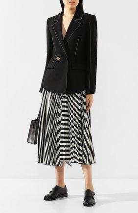 Женские кожаные монки SANTONI черного цвета, арт. WUKM58591BA3SLGAN01 | Фото 2