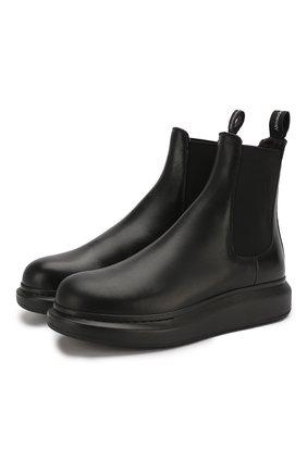 Мужские кожаные челси ALEXANDER MCQUEEN черного цвета, арт. 604234/WHXE1 | Фото 1