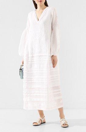 Женские кожаные сандалии TOD'S белого цвета, арт. XXW00V0CS00MID | Фото 2