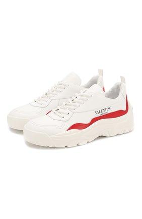 Кожаные кроссовки Valentino Garavani Gumboy | Фото №1