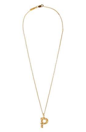 Женская подвеска на цепочке alphabet p CHLOÉ золотого цвета, арт. CHC20SF02PCB7 | Фото 1 (Материал: Металл)
