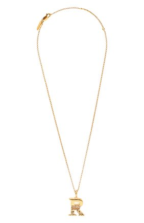 Женская подвеска на цепочке alphabet r CHLOÉ золотого цвета, арт. CHC20SF02RCB7 | Фото 1 (Материал: Металл)