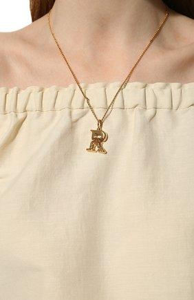 Женская подвеска на цепочке alphabet r CHLOÉ золотого цвета, арт. CHC20SF02RCB7 | Фото 2 (Материал: Металл)