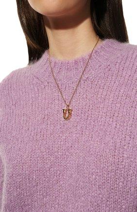 Женская подвеска alphabet u CHLOÉ золотого цвета, арт. CHC20SF02UCB7 | Фото 2 (Материал: Металл)
