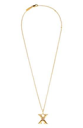 Женская подвеска на цепочке alphabet x CHLOÉ золотого цвета, арт. CHC20SF02XCB7 | Фото 1 (Материал: Металл)