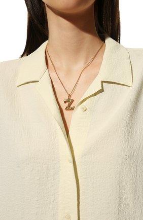 Женская подвеска на цепочке alphabet z CHLOÉ золотого цвета, арт. CHC20SF02ZCB7 | Фото 2 (Материал: Металл)