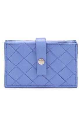 Женский кожаный футляр для кредитных карт BOTTEGA VENETA светло-голубого цвета, арт. 592776/VCPP3 | Фото 1